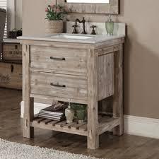 Rustic Style Quartz White Marble Top 36 inch Bathroom Vanity Free