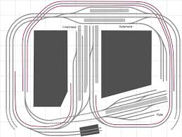 track plans for your model railway the hidden tracks on the lower part of the plan join up to make a continous run