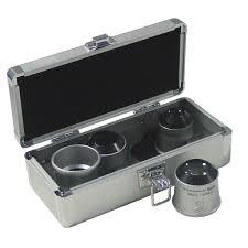schweizer magnifying glass tech line 6x 8x 10x 15x pro watchmaker s loupe set in storage box