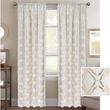 Better Homes And Gardens Bathrooms Amazing Better Homes Gardens Metallic Foil Trellis Curtain Panel Walmart
