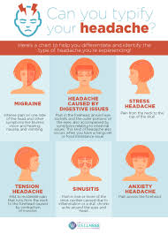 Headache Chart Top Of Head Can You Typify Your Headache The Wellness Corner