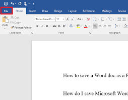 Notebook Paper Word Template Unique How To Save A Microsoft Word Doc As A PDF Or Other File Format