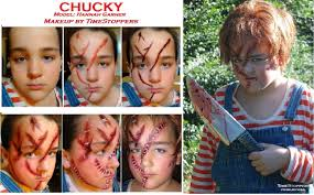 our chucky doll makeup thanks to hannah for being model