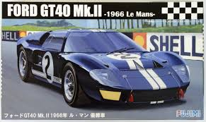 Fujimi 126036 1/24 Scale Model 1966 Le Mans Ford Gt40 Mark II V8 ...