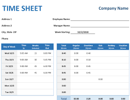 excel project timesheet weekly time sheet with tasks and overtime
