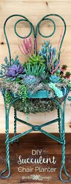 repurpose old furniture. 2. A Chair Planter With Brightly Colored Flowers Repurpose Old Furniture