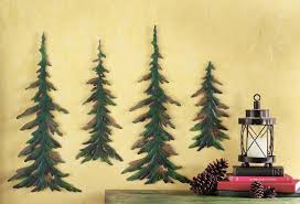 >amazon collections etc evergreen pine tree metal wall decor set  amazon collections etc evergreen pine tree metal wall decor set of 4 home kitchen