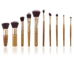 makeup brush set 10 pcs plete studio pro brushes with bamboo handle and synthetic hair