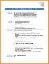 9 Maintenance Technician Resume Doctors Signature