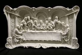 the last supper jesus wall plate plaque catholic statue made in italy 29 wide ebay on large last supper wall art with the last supper jesus wall plate plaque catholic statue made in