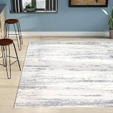 gray cream gold area rug distressed modern abstract