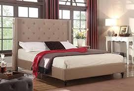 Arabella Linen Slipcover Bed Flax Platform Beds  PolyvoreLinen Platform Bed