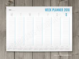A1 A2 And A3 Weekly Planner Template With Small Yearly Calendar 2018 ...