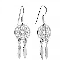 Dream Catcher Earings New DREAM CATCHER EARRINGS Silver 32 Rhodium Or 32K Gold Plated