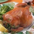 apple  glazed cornish game hens