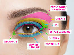 for your eyeshadow colours remember to have your base colour transition colour highlight and contour shade colour here