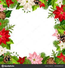 Vektor Weihnachten Rahmen Mit Tannenzweigen Bunte