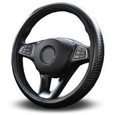 com vitodeco odorless luxury genuine leather steering wheel cover dragon scales design excellent grip nontoxic standard size 14 5 black
