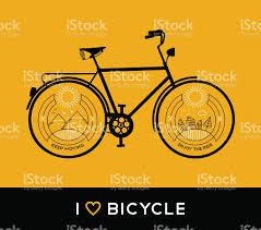 Vélo Ligne Art Nature Concept De Vélo De Montagne Vecteurs Libres De