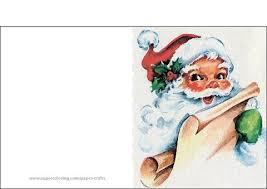 Retro Christmas Card With Santa Claus Template Free