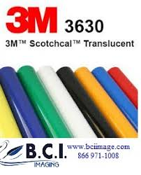 3m Scotchcal Vinyl Color Chart 3m Scotchcal Translucent Graphic Film Series 3630