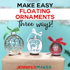 My goal is to always keep hello svg free for personal and commercial use, but running a popular free download site can get costly. Easy Floating Ornaments With A Cricut Jennifer Maker