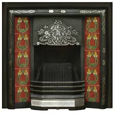 daisy highlight polish cast iron fireplace tiled insert would look fantastic in a period home