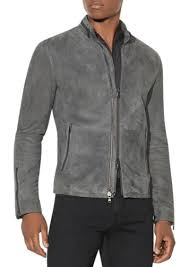 john varvatos star usa suede racer jacket