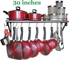 pans rack pot holders wall shelves