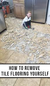 how to remove tile flooring yourself