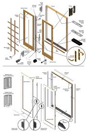 exterior door parts. 400 series frenchwood patio door parts exterior l