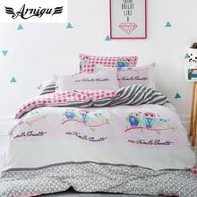 Buy owl quilt cover and get free shipping on AliExpress.com & ARNIGU Queen size Duvet cover set 100% Cotton owl 4pc Adamdwight.com