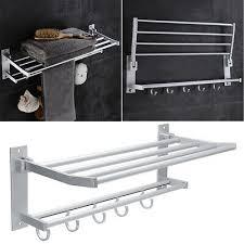 towel rail holder shelf wall mounted
