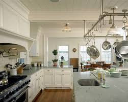 Hanging Pan Racks For Kitchen Enthralling Large Rustic Kitchen Islands From Reclaimed Wood With