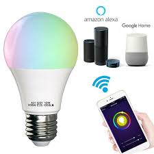 Walmart Alexa Light Bulbs Wifi Smart Led Light Bulb Works With Alexa Smartphone Controlled Multicolored Color Changing Lights Walmart Com