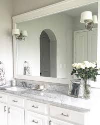 Classic Style Home DIY Bathroom Mirror Trim - Trim around bathroom mirror