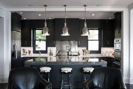 kitchen island lighting ideas kitchen transitional with black black cabinets breakfast breakfast bar lighting ideas