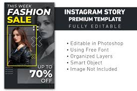 I hope you find all these instagram fonts useful! Story Instagram Fashion Sale Template Graphic By Ant Project Template Creative Fabrica