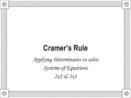cramer s rule n