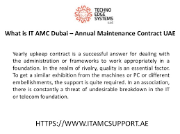 annual maintenance contract format for machine amc service provider dubai for your industrial itamcsupprot ae