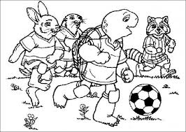 Small Picture Franklin playing soccer Soccer Coloring Pages Pinterest