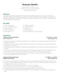 Resume Format Google Resume Format Google Docs Marketing Assistant Sample Objective