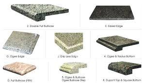 more edge finish prefab granite yellow s countertop finishes tile bullnose