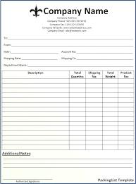 Blank Packing Slip Printable Blank Packing Slip Aoteamedia Com