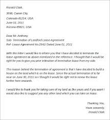 Lease Termination Notice Sample Day Notice Letter Day Notice To ...