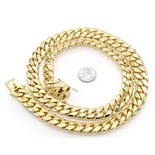solid 14k gold miami cuban link chain necklace for men 18mm 22 40in mainye jpg