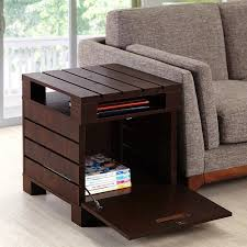 end tables living room. Amazon.com: Crete Small Square Rustic Vintage Walnut Living Room End Table - Sofa Side With Storage: Kitchen \u0026 Dining Tables S