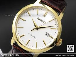 seiko automatic gold plated leather strap mens watch srpa28k1 srpa28 watches seiko nz watches