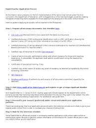 Deped Teacher Application Process Docx Professional Certification