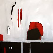 original large abstract art painting on canvas black grey red wall art large acrylic painting on canvas minimalist abstract square painting bw06 on grey red wall art with modern art home decor